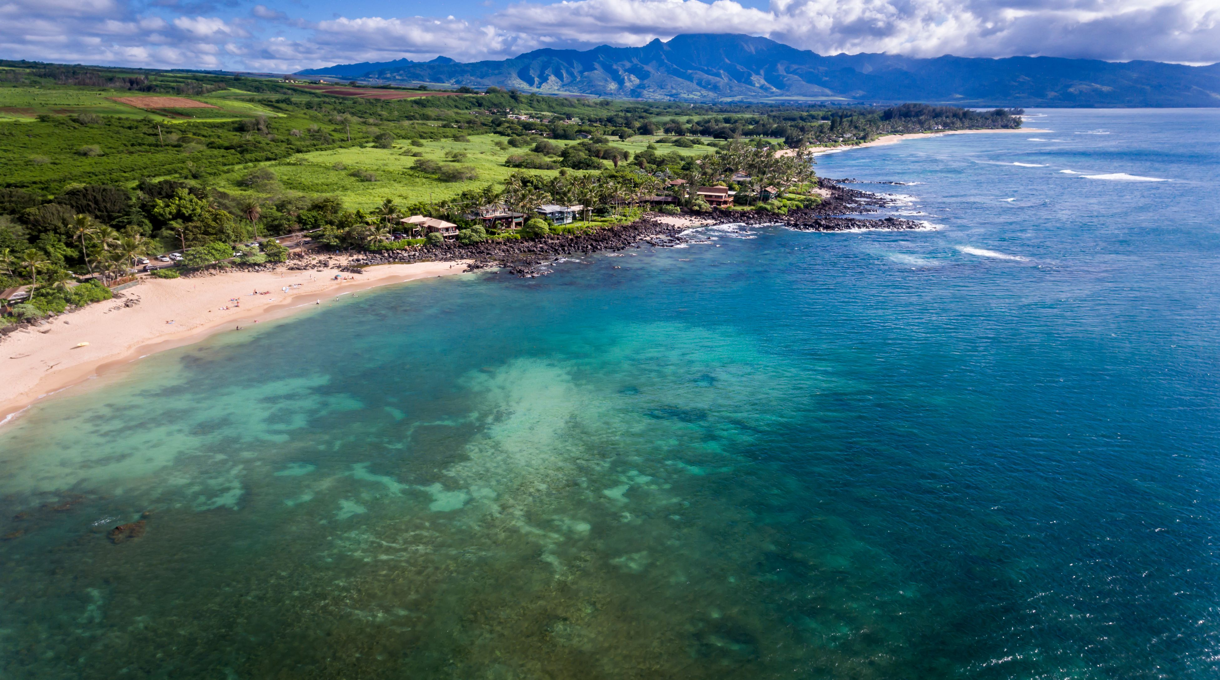 Haleiwa beach by Waimea Bay, Oahu, Hawaii