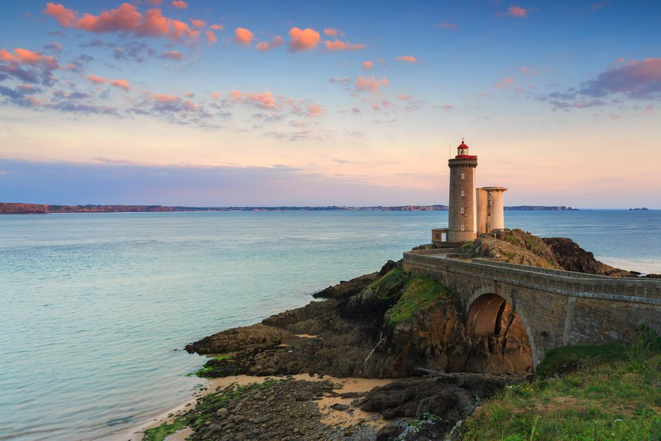 Le Phare du Petit Minou - an amazing lighthouse in Brittany, France.