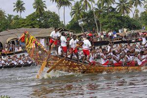 Snake boat race in Kerala, India