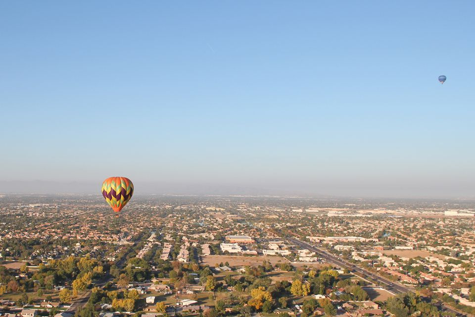 Hot air balloons over Phoenix