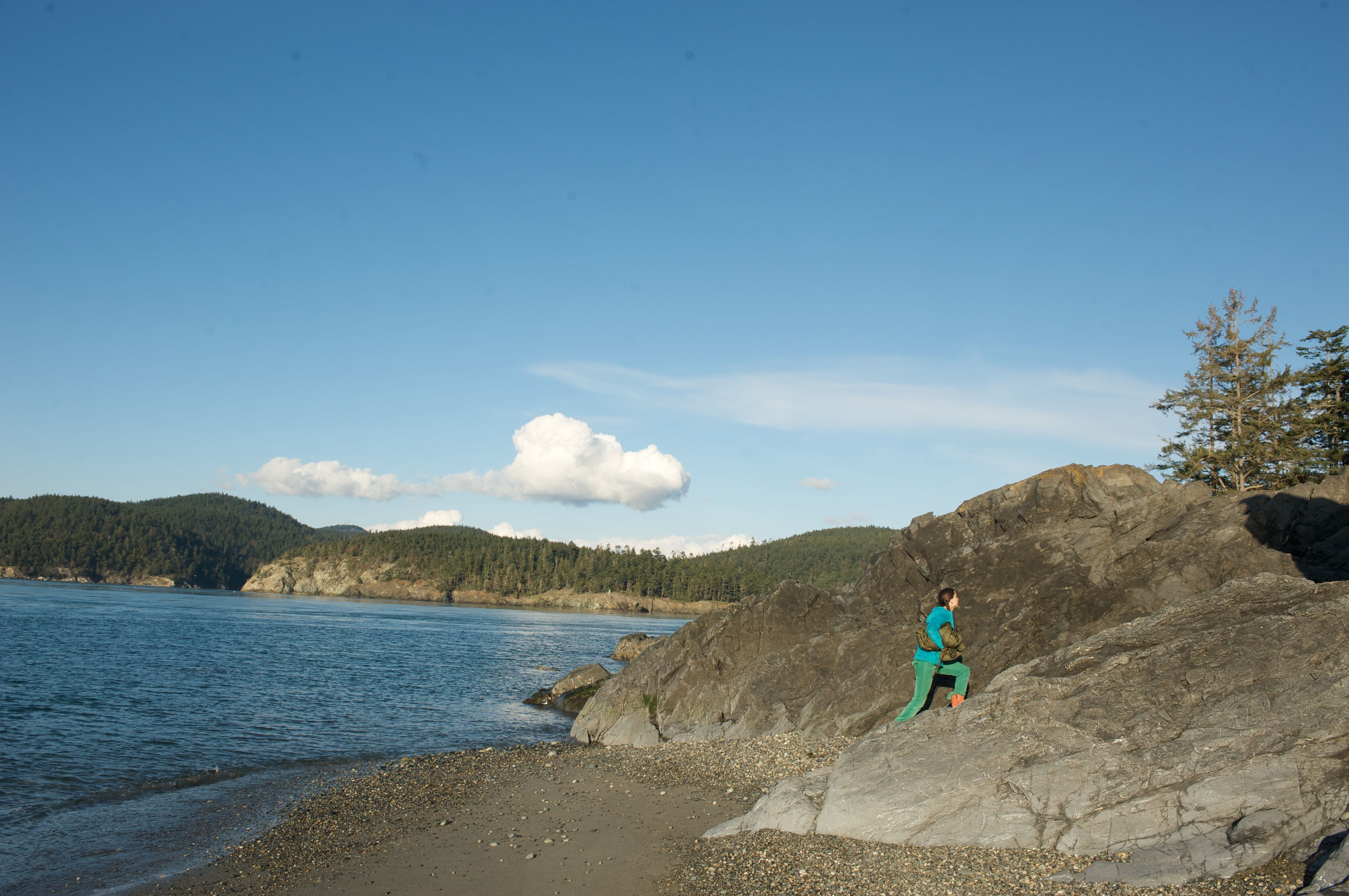 Hiking in Deception Pass State Park