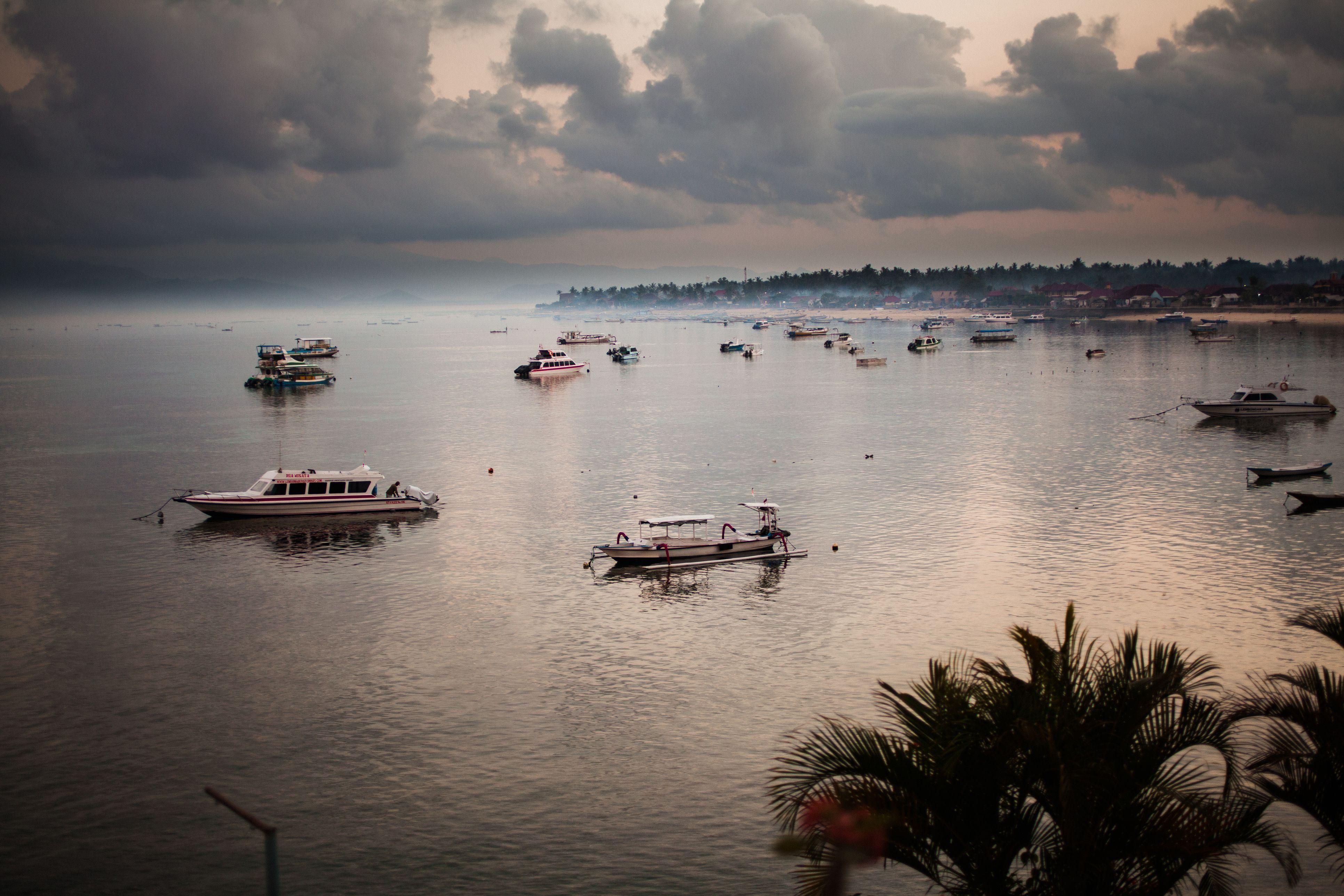 Bay on the island of Nusa Lembongan at dawn