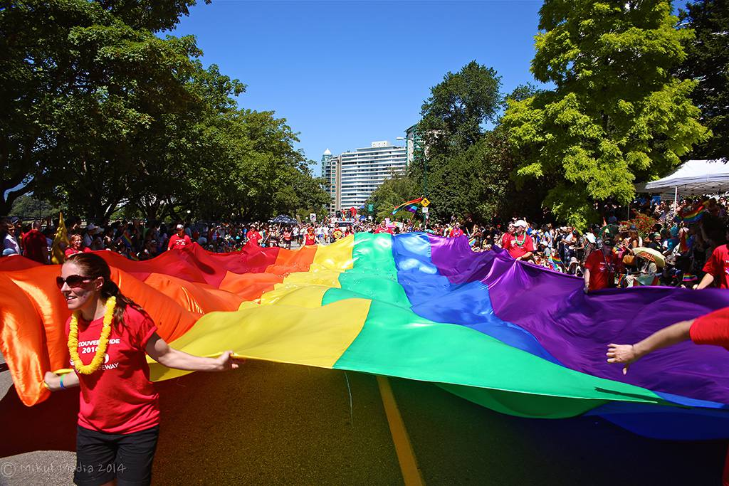 Vancouver Pride Parade in Vancouver, BC