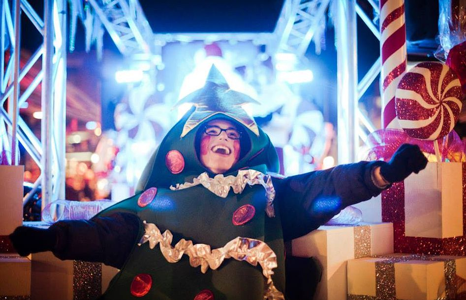 Montreal Christmas parade 2016 Défilé des rêves is one of the city's favorites holiday events.