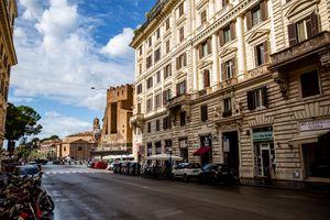 Monti neighborhood in Rome, Italy