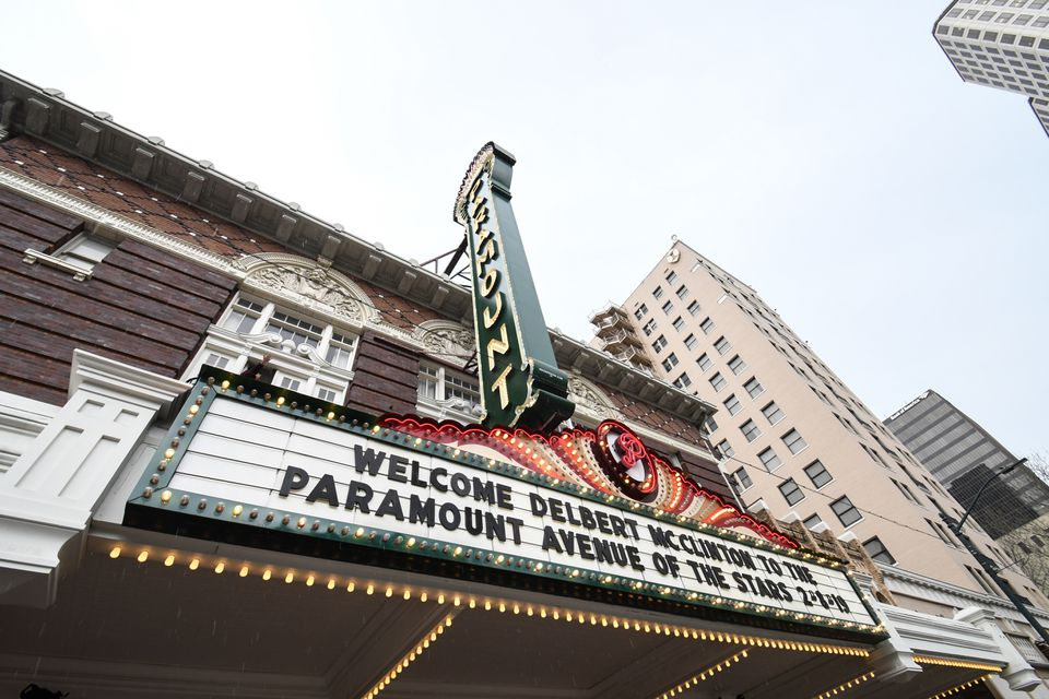 Marquee of the Paramount theater