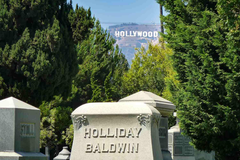 Hollywood Sign Hollywood Sign from Hollywood Forever Cemetery