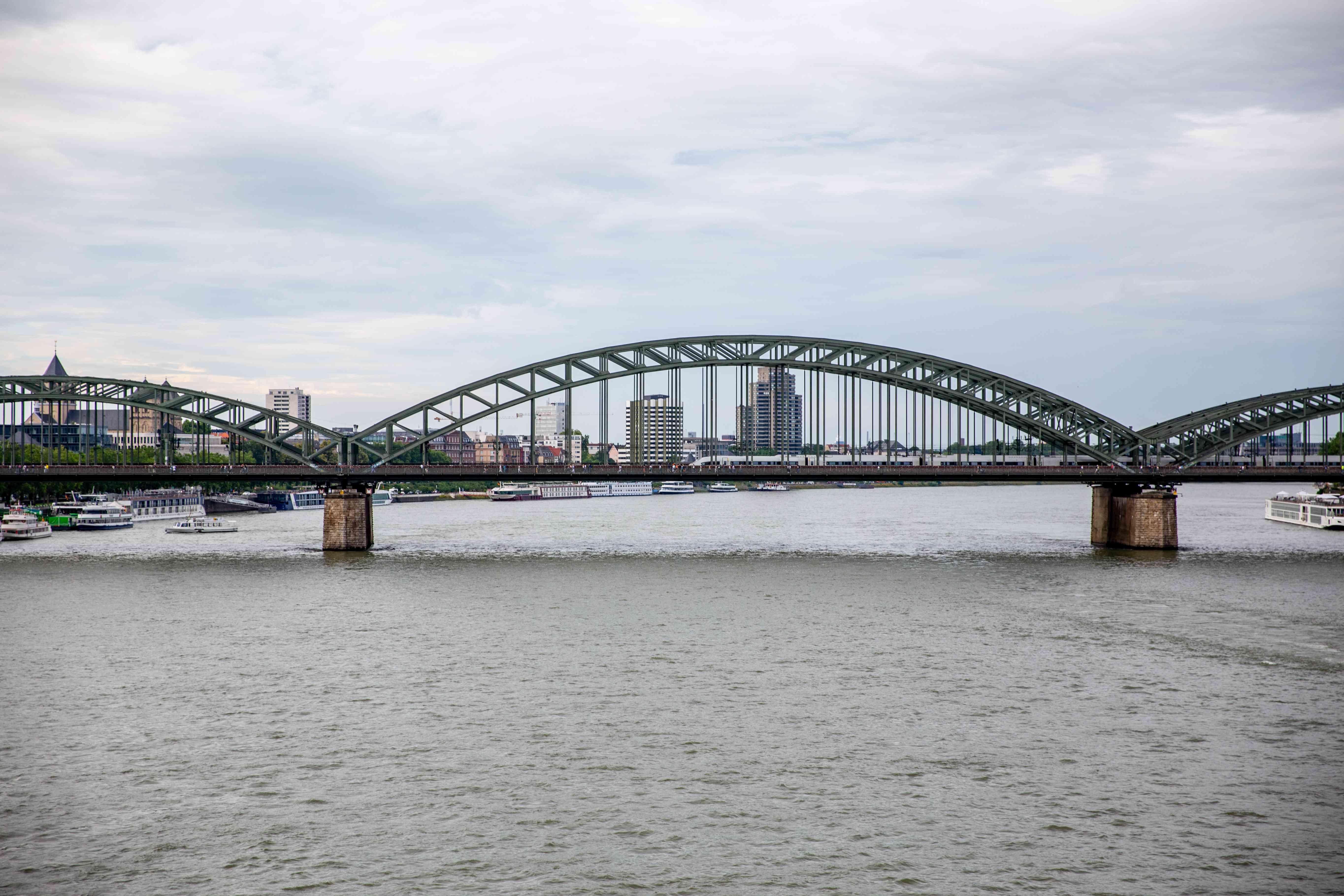 Hohenzollernbrücke Bridge in Cologne, Germany