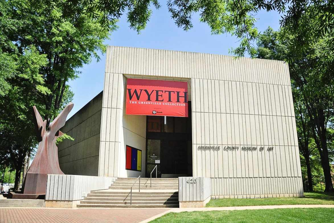 front entrance of Greenville County Museum of Art