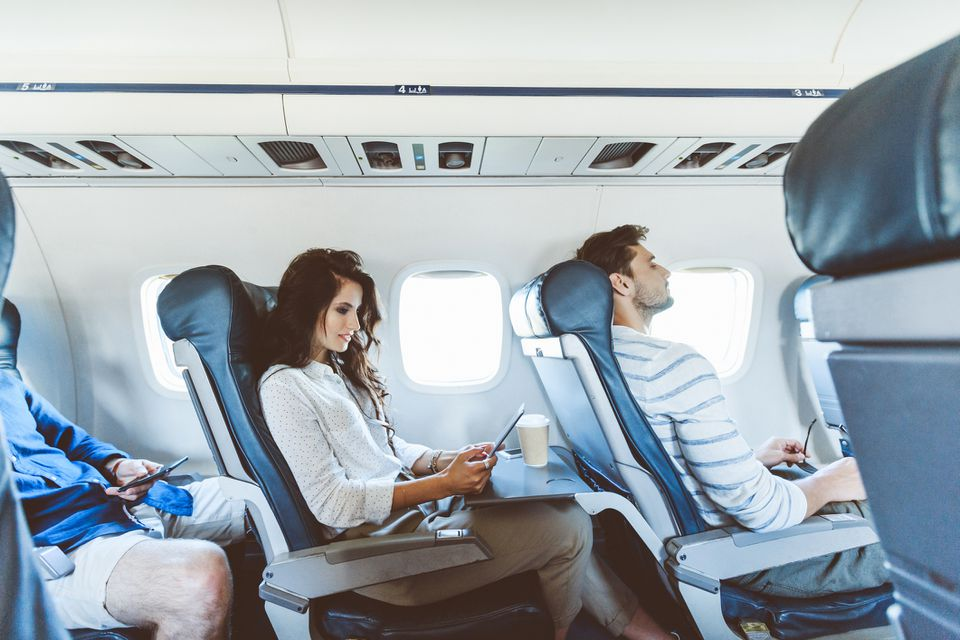 Passengers on an airlpane
