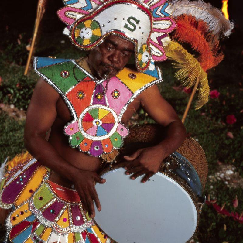 Bahamas Junkanoo dancer.