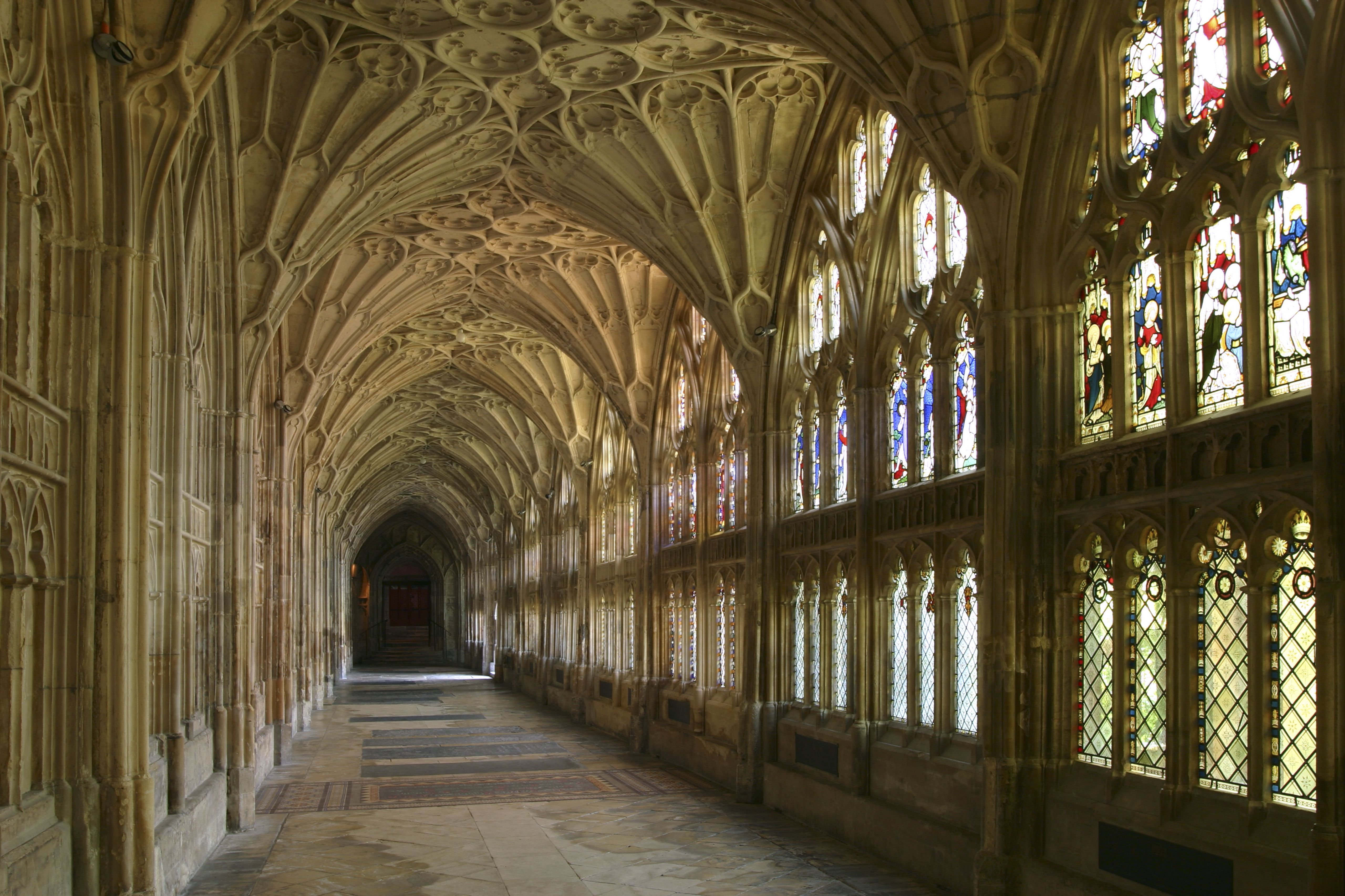 Cloisters, Gloucester Cathedral, Gloucestershire.