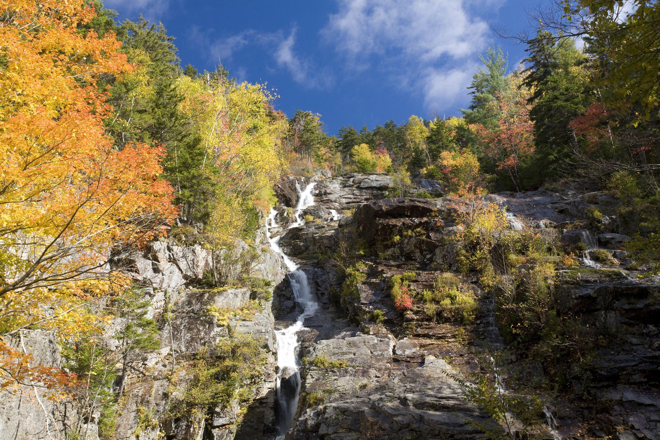 Silver Cascade Falls at Crawford Notch