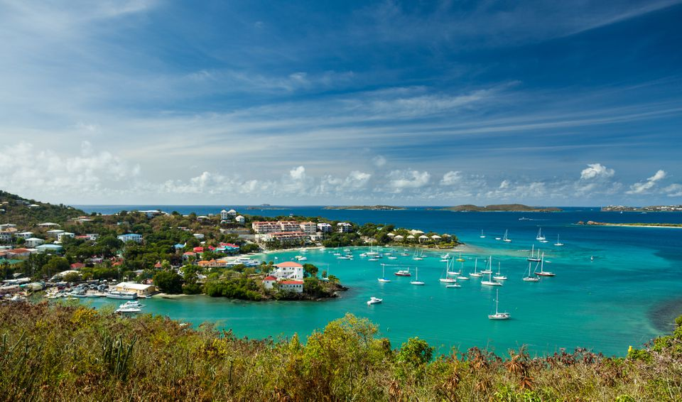 boats in a bay in the U.S. Virgin Islands