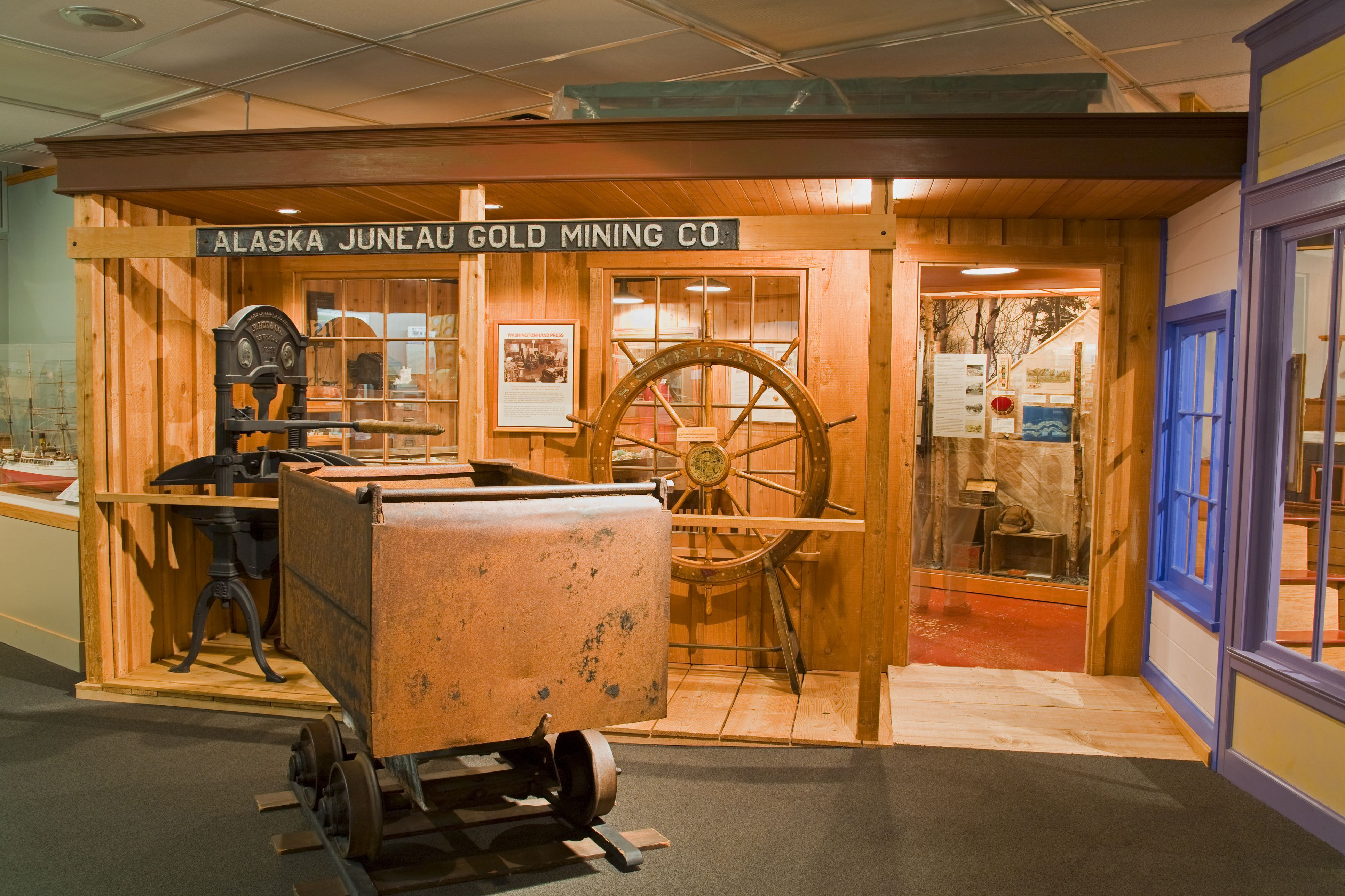 Mining exhibit at the Alaska State Museum