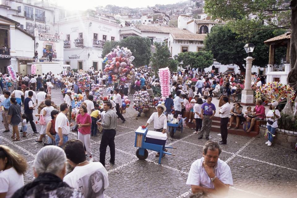 Crowds During Easter Celebrations In Taxco Mexico National Holidays