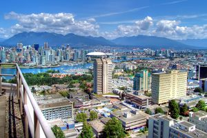 High Angle View Of Vancouver Cityscape