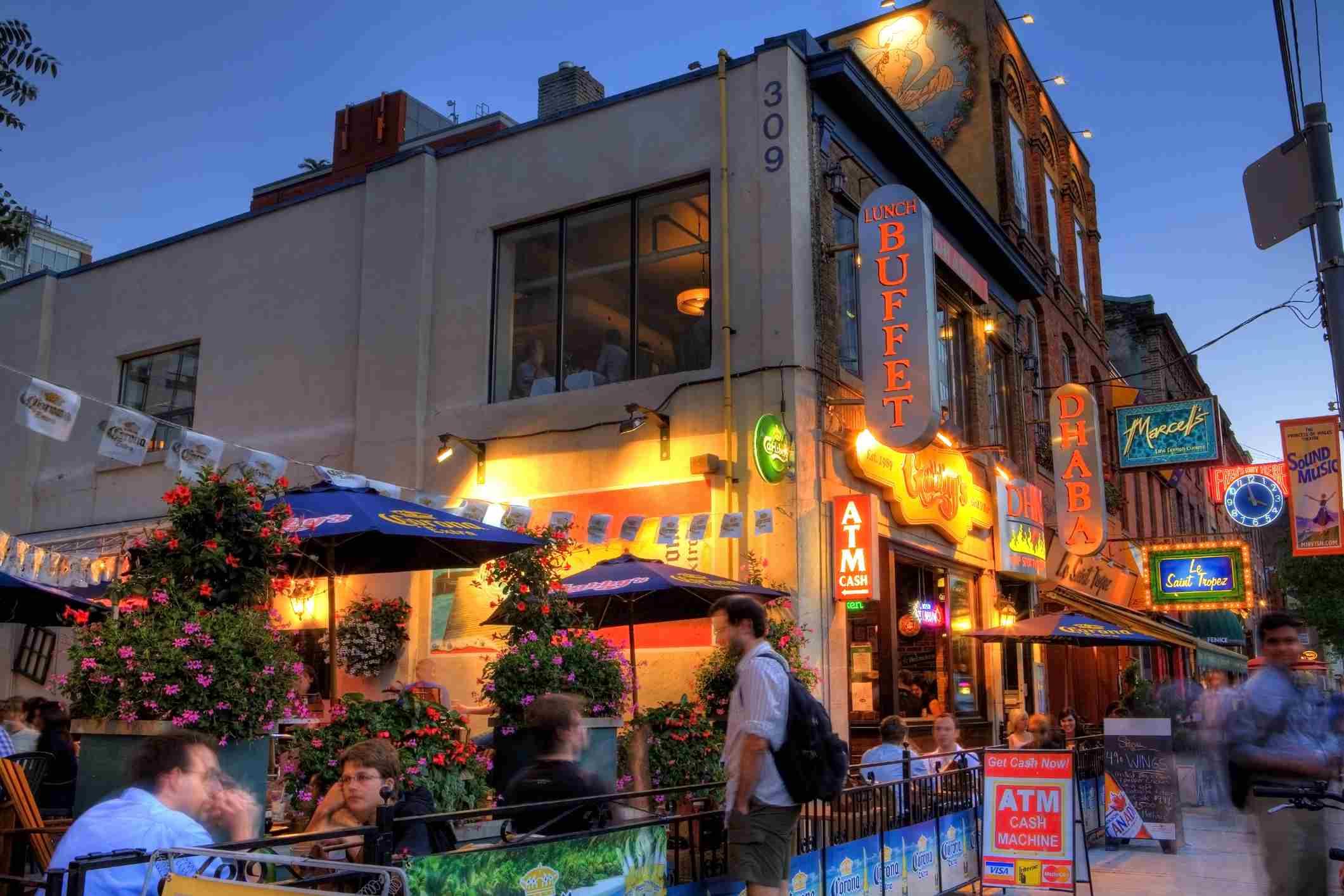 Restaurants on Toronto's King St.