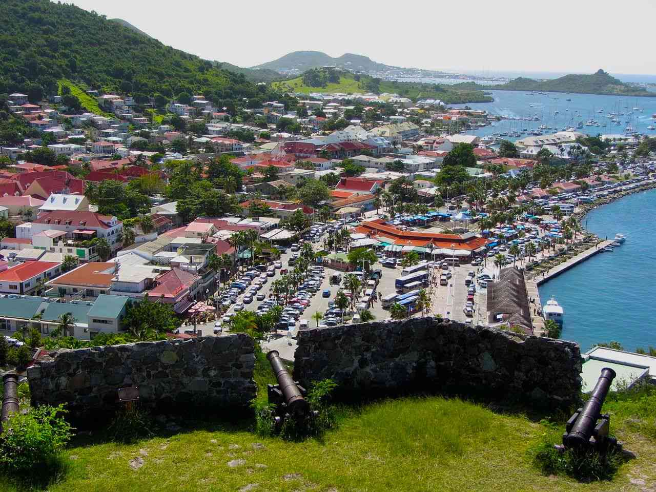 Fort Louis and Marigot, St. Martin