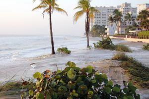 Lauderdale by the sea, Florida on a fall morning after rainfall