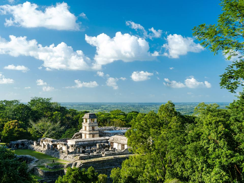 Mayan palace at Palenque, Mexico (Unesco world heritage site)