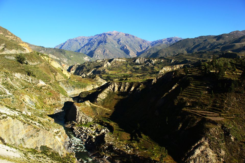 Scenic view of Colca Canyon