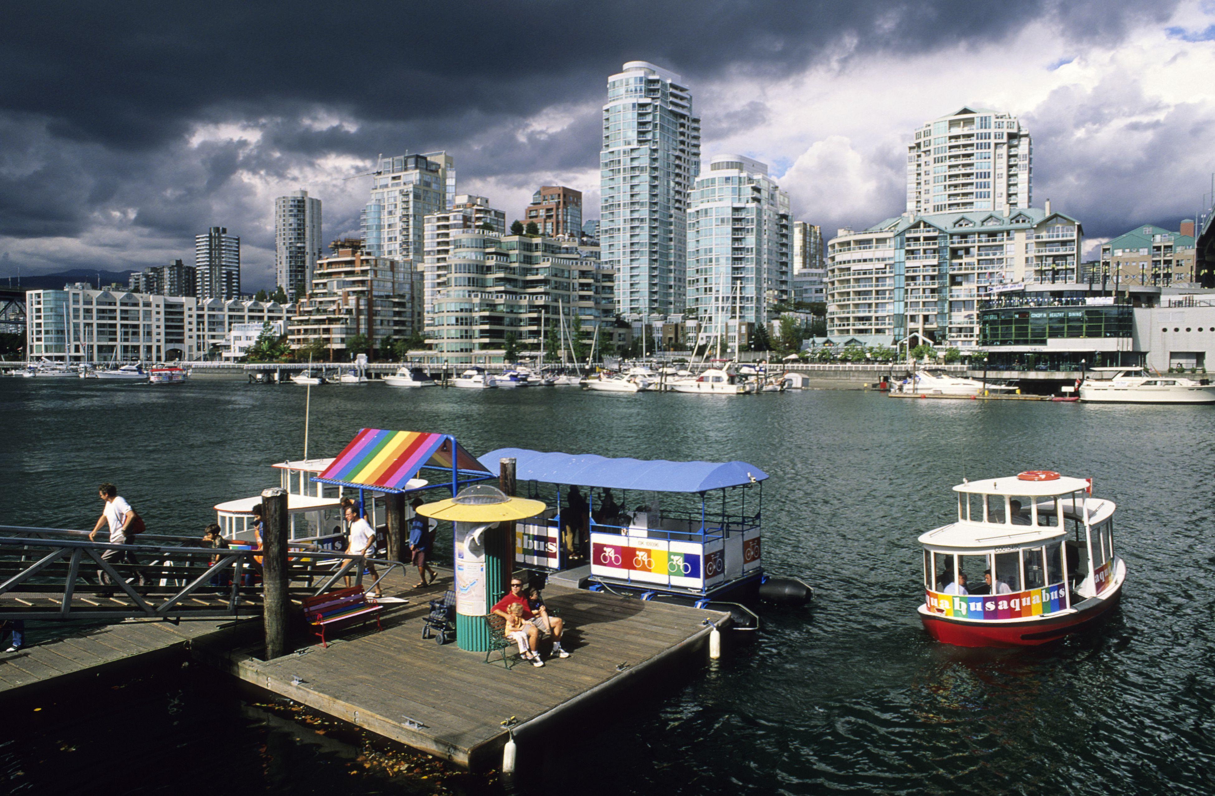 The Aquabus at Granville Island, Vancouver, British Columbia, Canada.