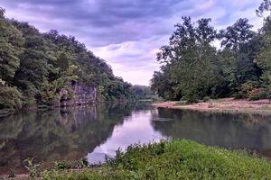 Meramec River, running past Onondaga Cave State Park, near Leasburg, Missouri