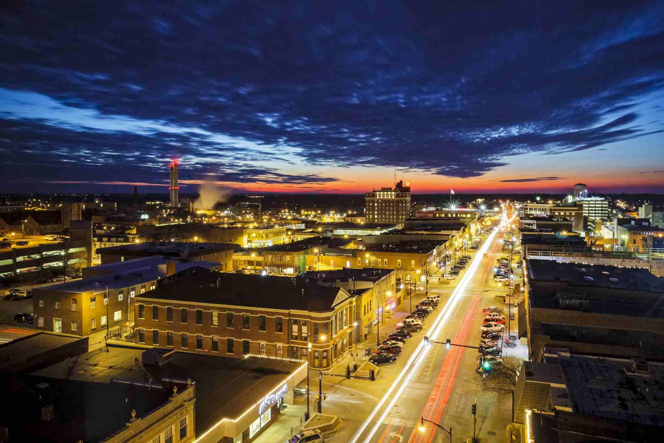 Skyline of Columbia, Missouri