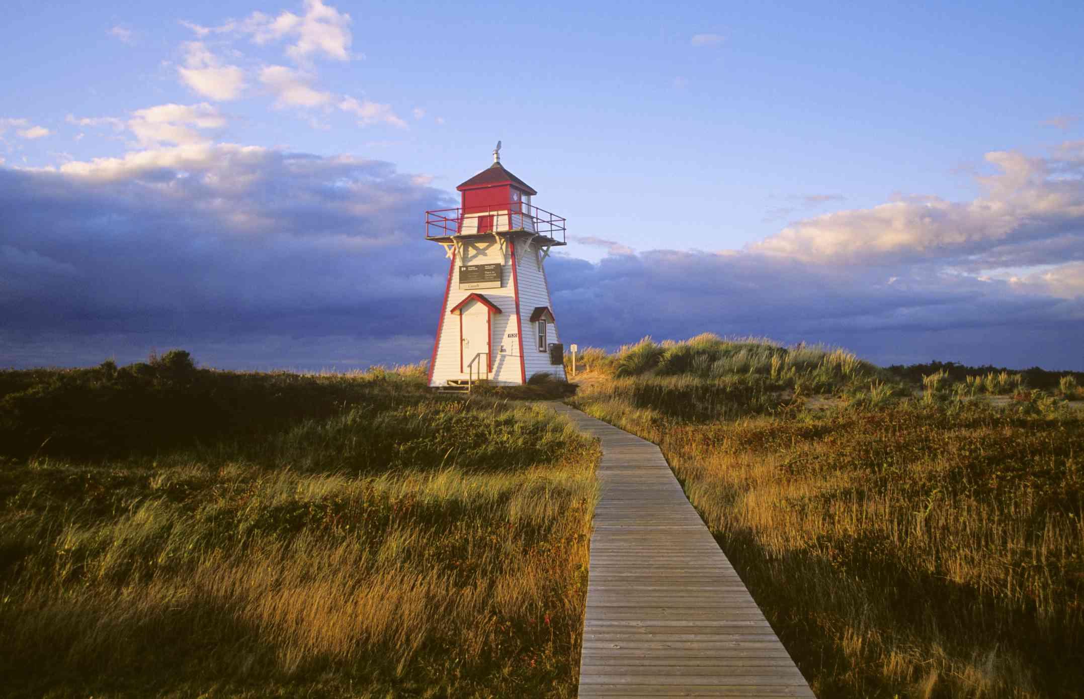 Covehead Lighthouse, Prince Edward Island National Park, Prince Edward Island, Canada.