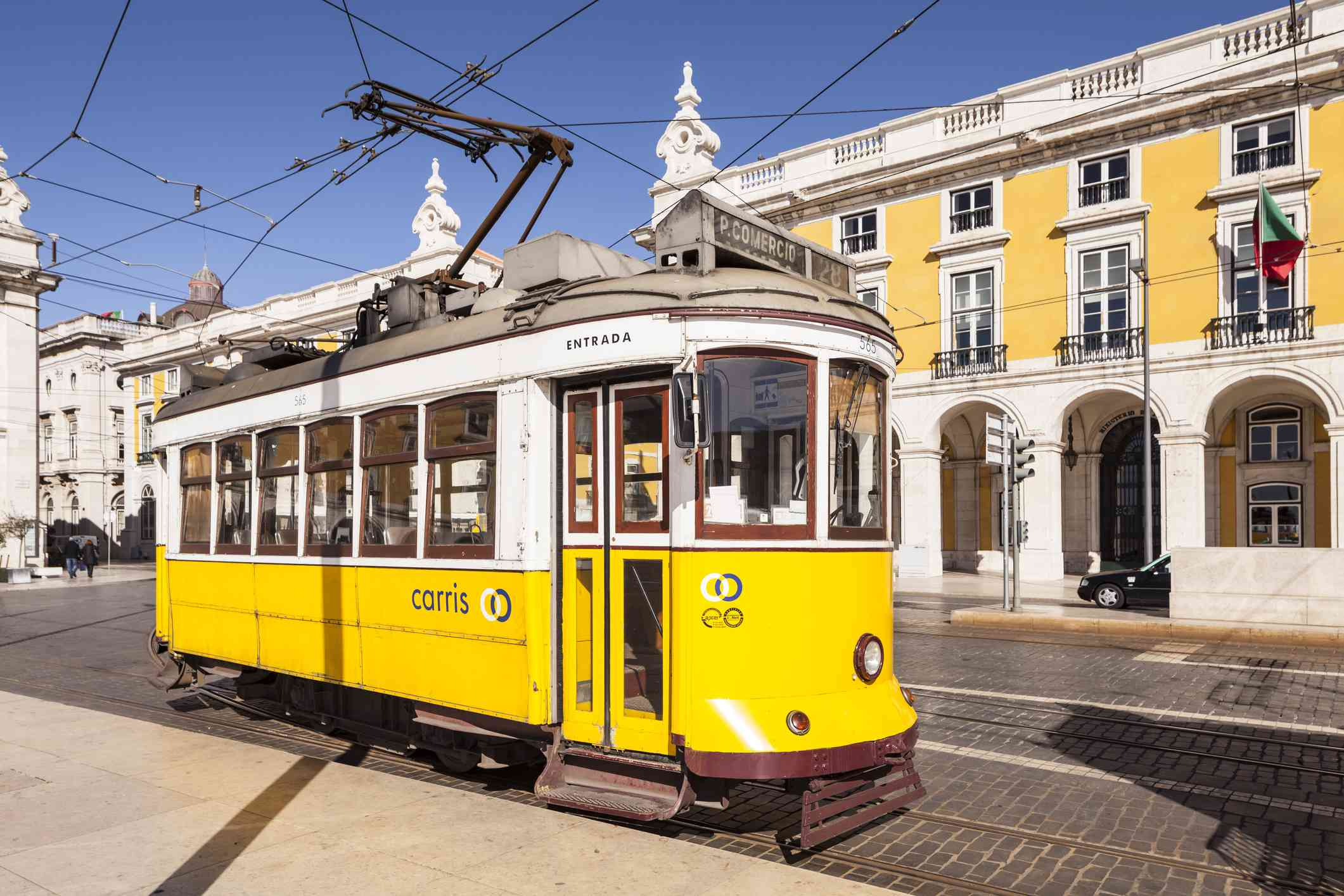 The famous Tram 28 in Lisbon, Portugal