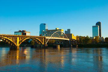 Little Rock skyline, river, and bridge