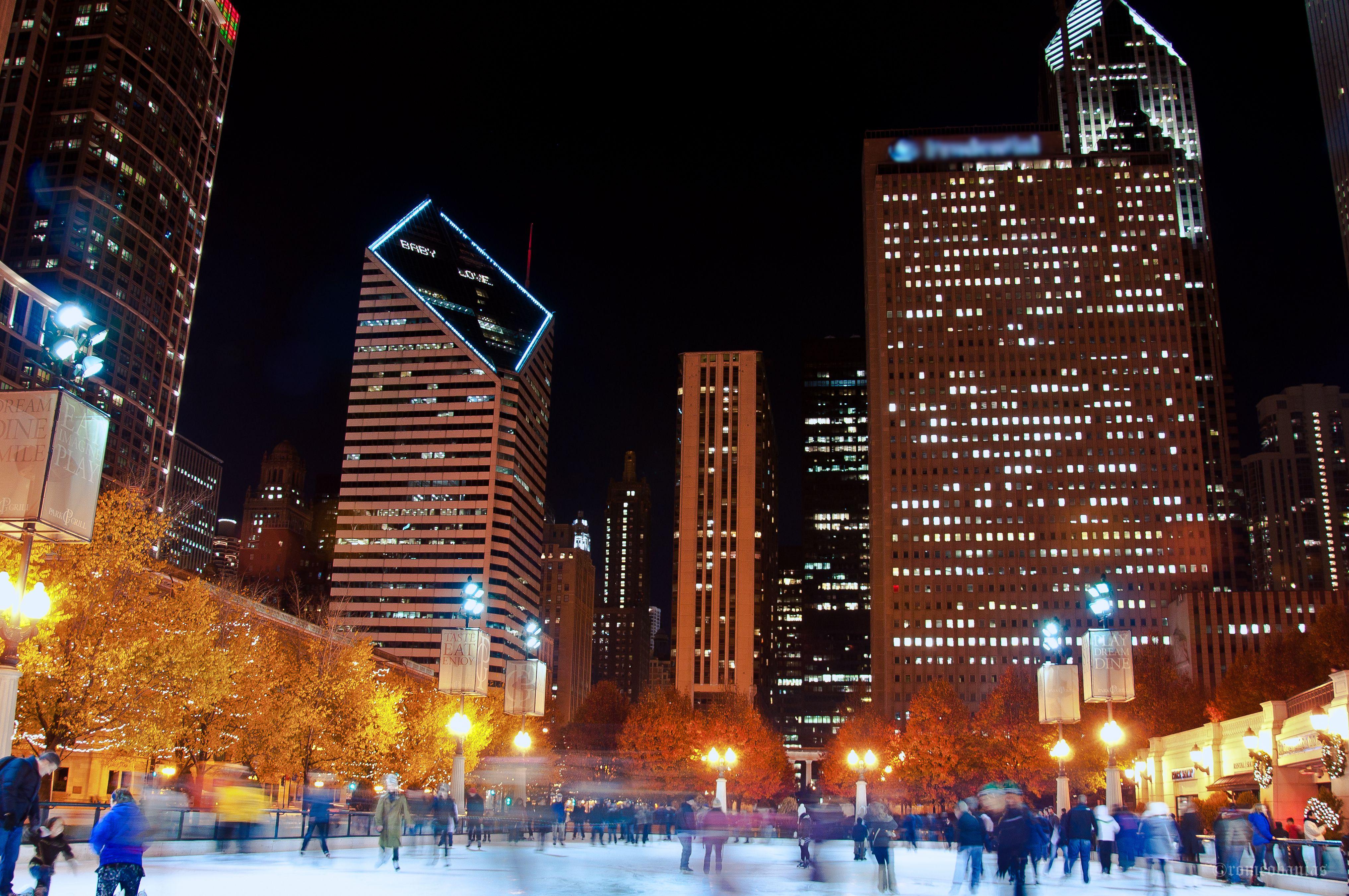 Skating Rink at night