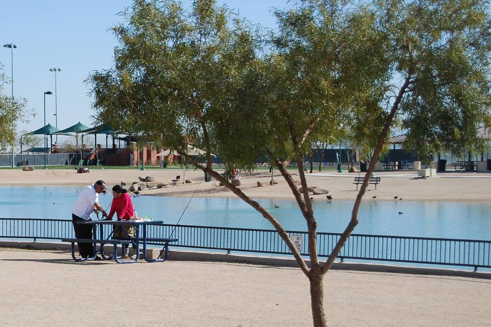 Park and lake in Surprise, Arizona