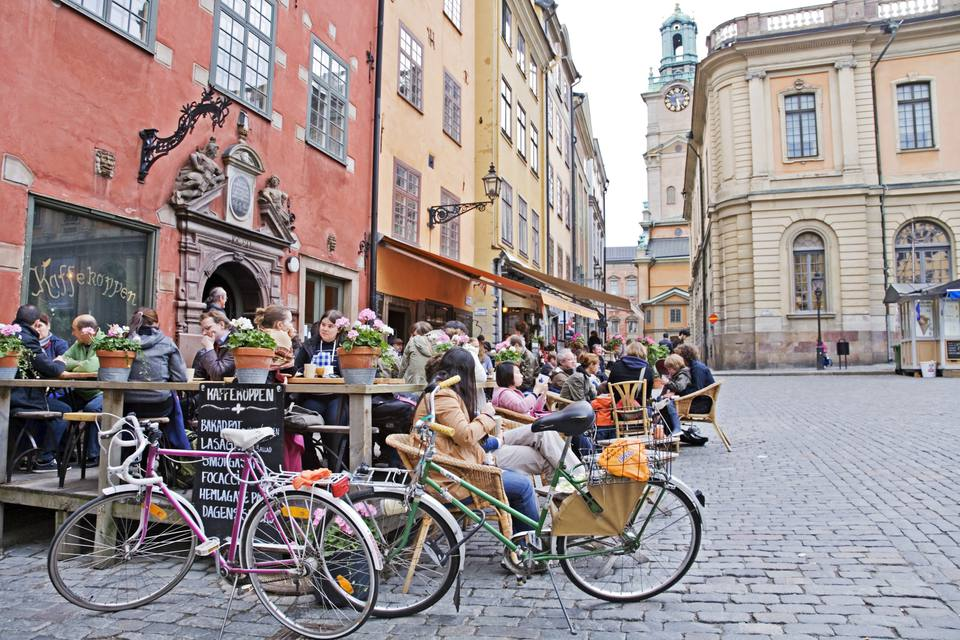 Square in Gamla Stan, Old Town Stockholm, Sweden