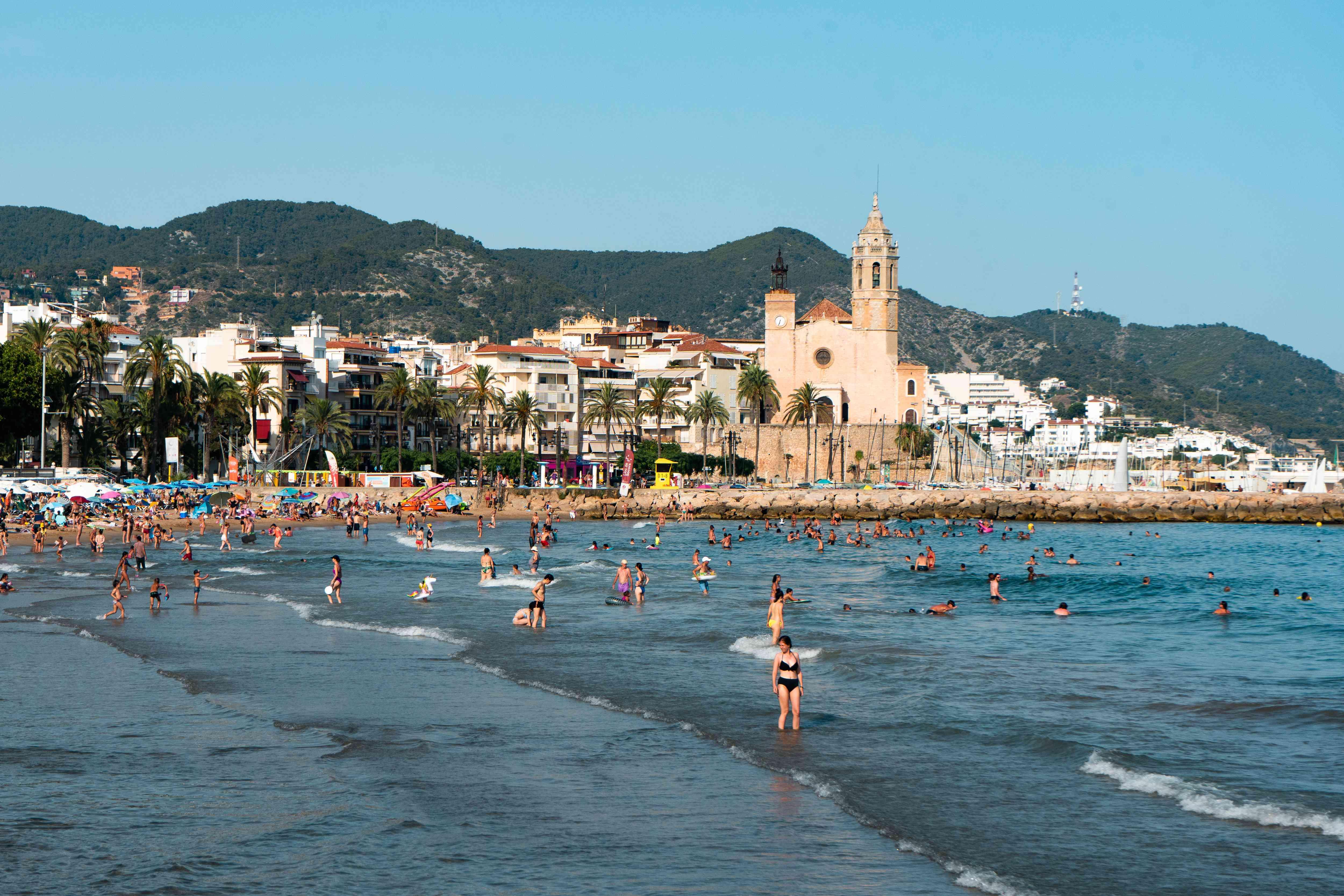 Sitges Beach near Barcelona, Spain