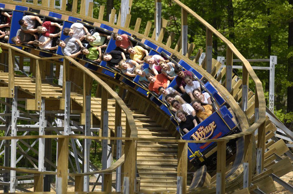 The Voyage coaster at Holiday World
