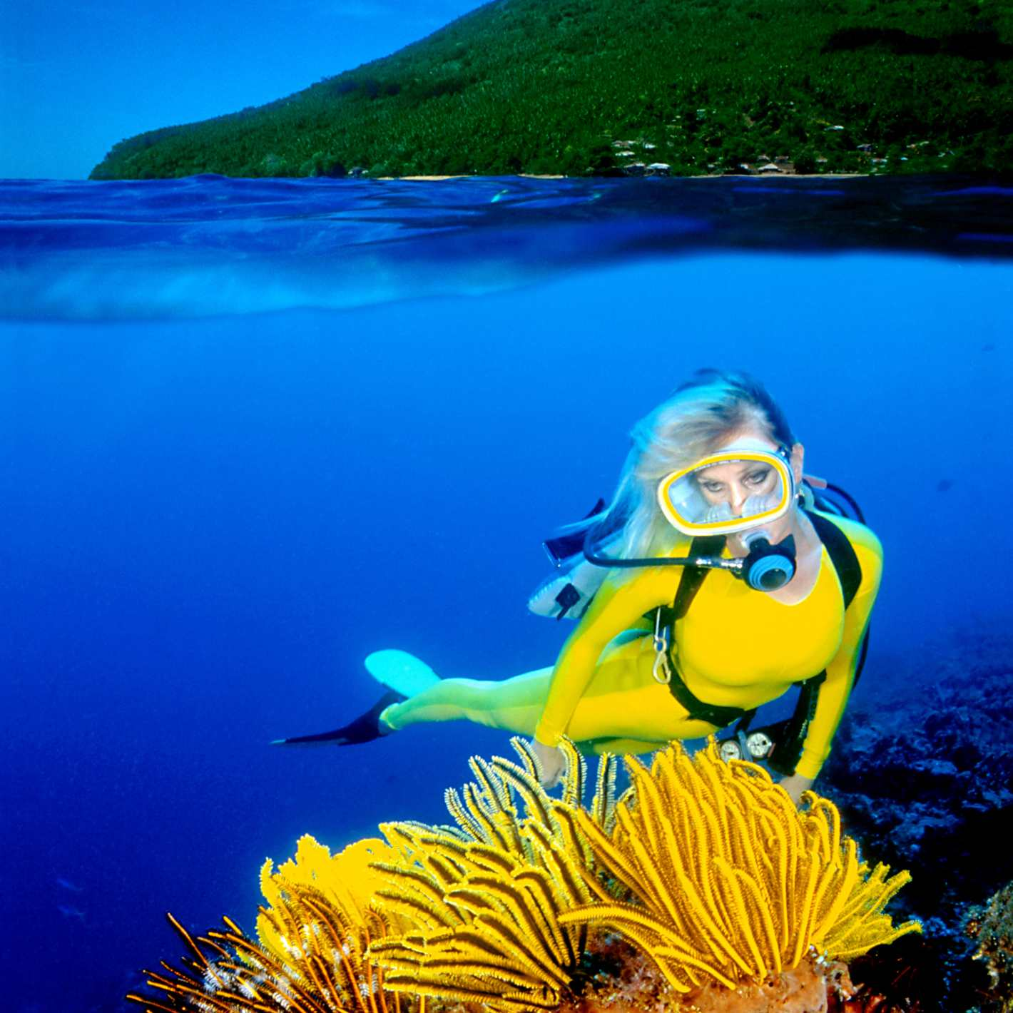 Scuba Diver Explores the Ocean on Her First Dive