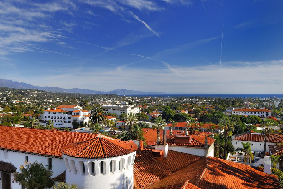 Red Tile Rooftops of Santa Barbara