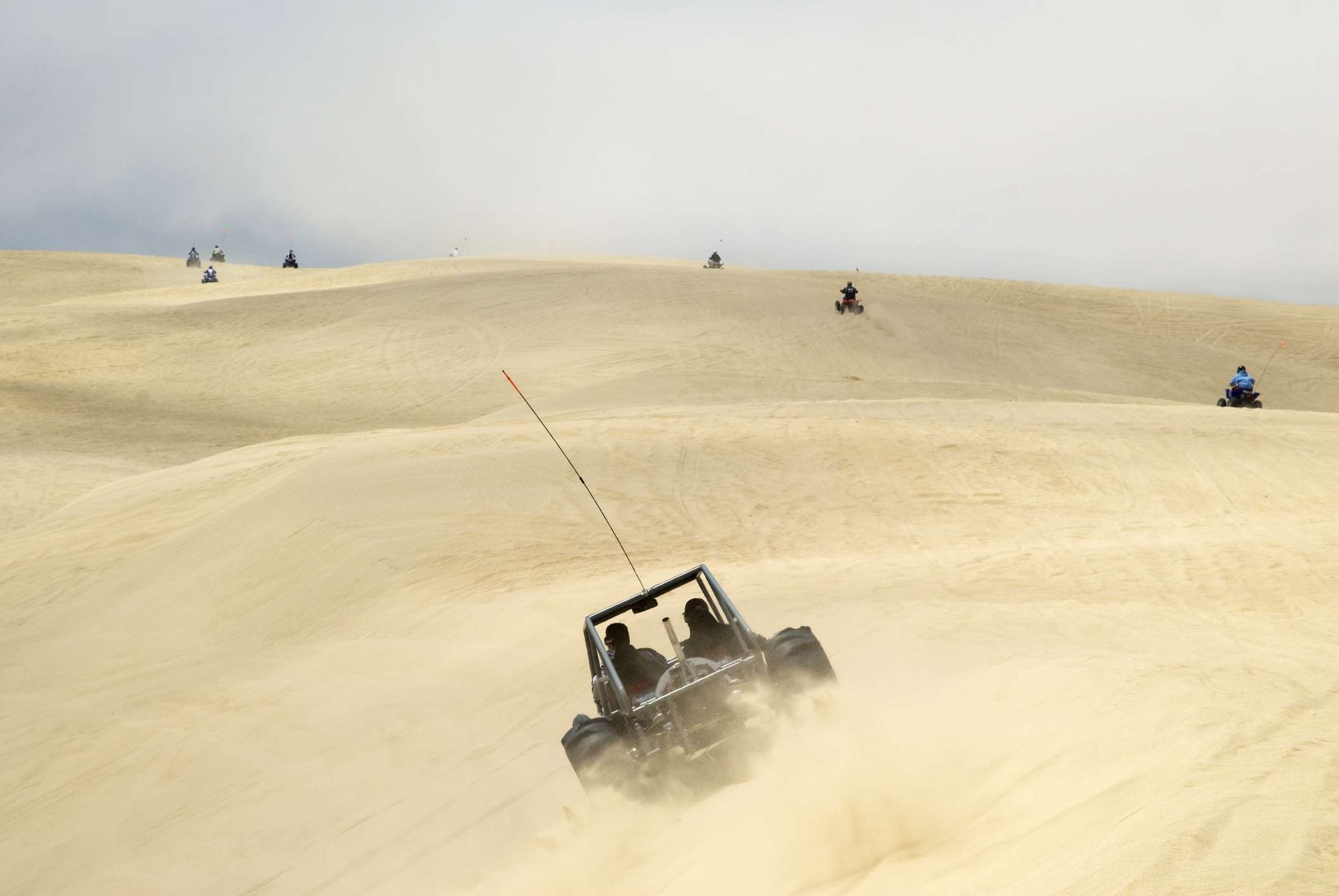 Off road vehicles at Pismo Beach Dunes, part of the larger The Guadalupe-Nipomo Dunes