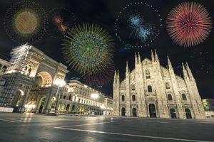 Fireworks in Milan