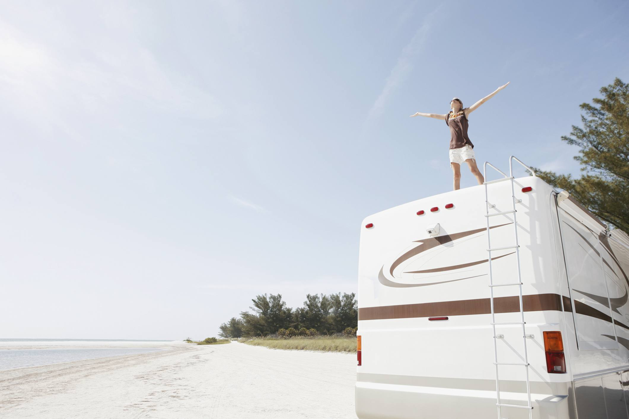 Woman on an RV in Florida