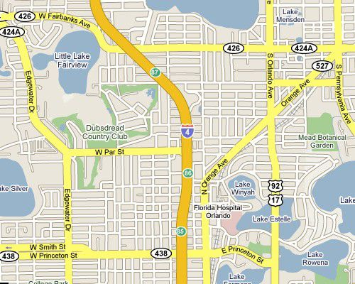 Universal Florida Map.Orlando I 4 Exits Interstate 4 Florida