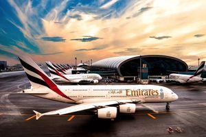 Emirates Airline A380 Jet at Dubai Airport
