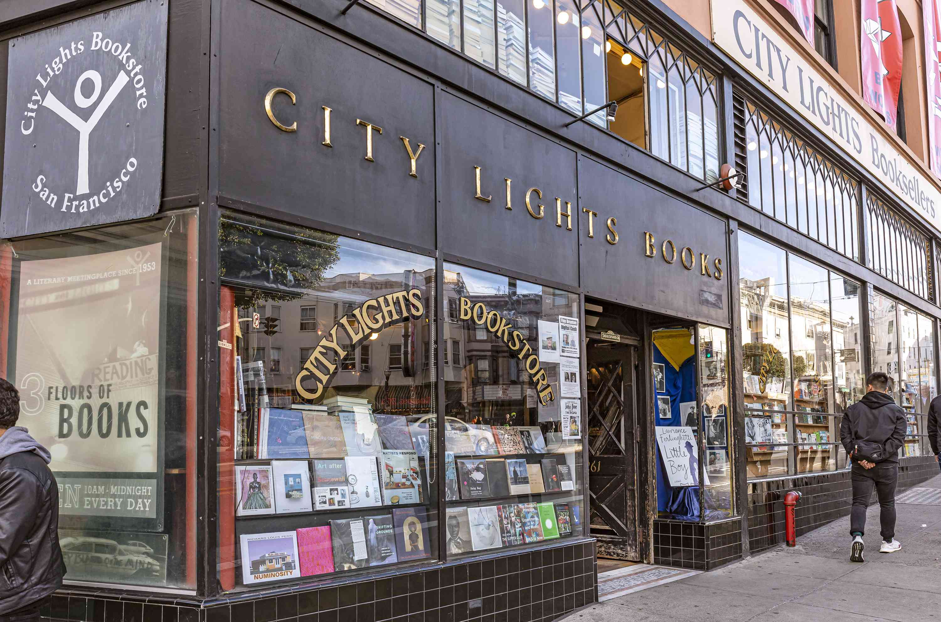 The exterior of City Lights Books