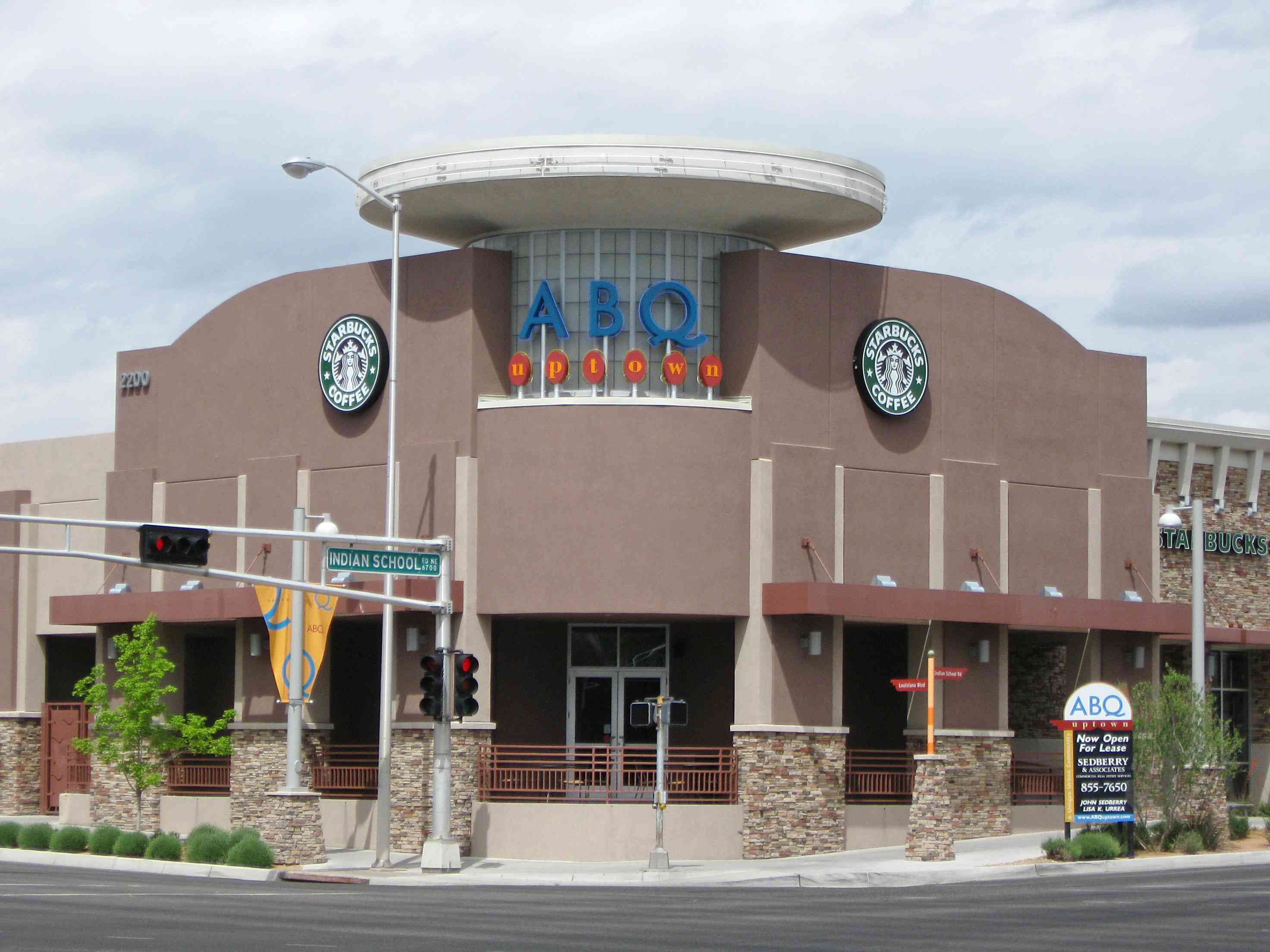 Corner display of the ABQ Uptown shopping mall