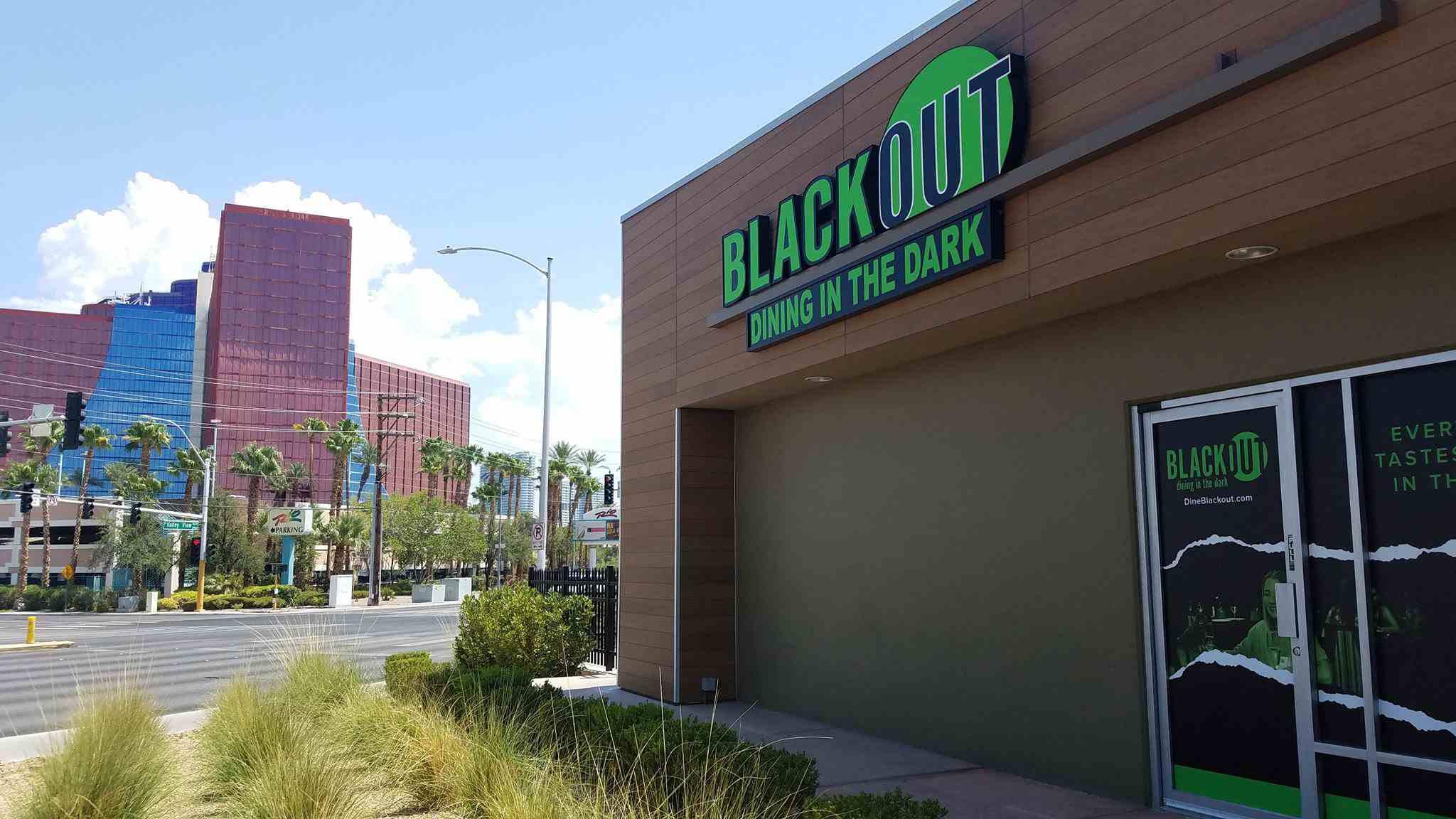 Exterior of the Blackout restaurant