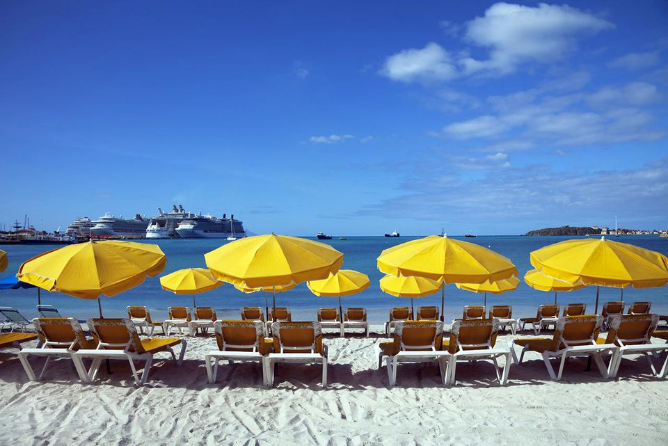 'Great Bay beach, Philipsburg, St Maarten.