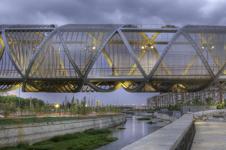 Bridge in Madrid Rio Park
