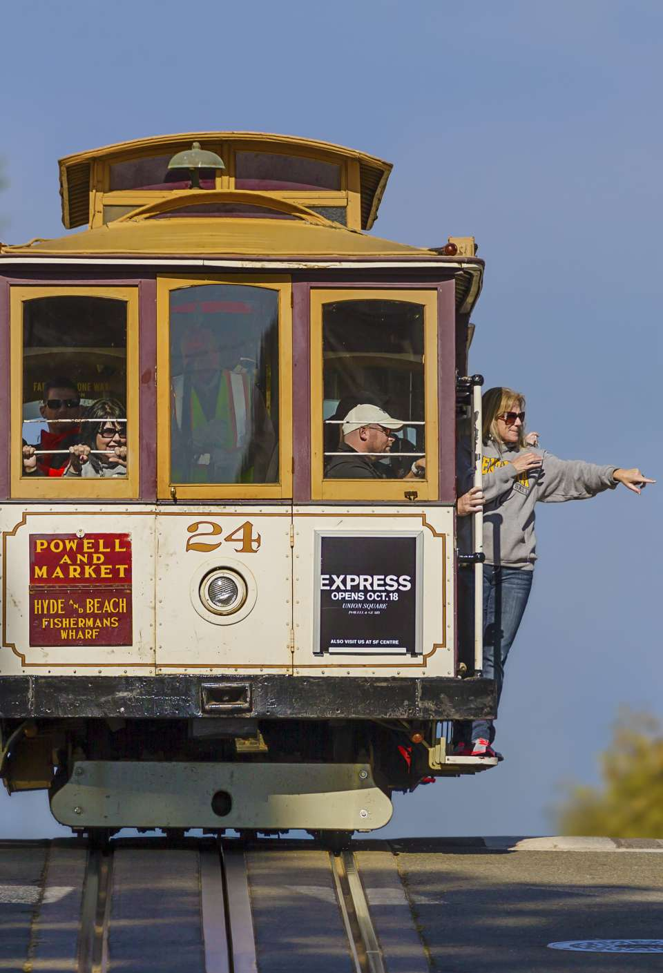Riders on a San Francisco Cable Car